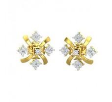 Natural Diamond Earrings 0.44 CT / 3.80 gm Gold