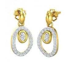 Natural Diamond Earrings 0.44 CT / 2.90 gm Gold