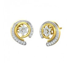 Natural Diamond Earrings 0.52 CT / 3.50 gm Gold