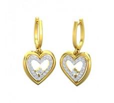 Diamond Heart Earrings 0.41 CT / 3.20 gm Gold