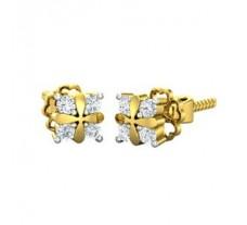 Natural Diamond Earrings 0.12 CT / 2.50 gm Gold
