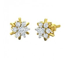 Natural Diamond Earrings 0.40 CT / 2.33 gm Gold