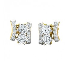 Natural Diamond Earrings 0.50 CT / 3.06 gm Gold