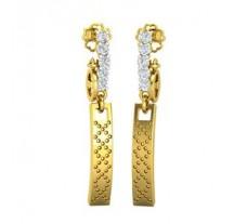 Natural Diamond Earrings 0.25 CT / 3.54 gm Gold