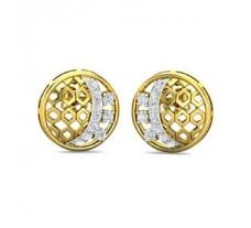 Natural Diamond Earrings 0.33 CT / 3.91 gm Gold