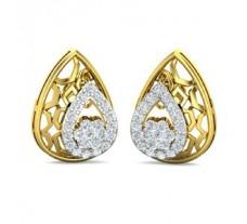 Natural Diamond Earrings 0.48 CT / 3.49 gm Gold