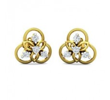 Natural Diamond Earrings 0.24 CT / 2.73 gm Gold