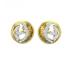 Natural Diamond Earrings 0.36 CT / 3.63 gm Gold