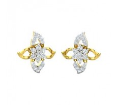 Natural Diamond Earrings 0.57 CT / 3.20 gm Gold