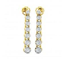 Natural Diamond Earrings 0.59 CT / 3.80 gm Gold