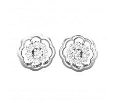 Natural Diamond Earrings 0.40 CT / 4.00 gm Gold