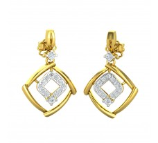 Natural Diamond Earrings 0.32 CT / 4.09 gm Gold