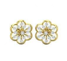 Natural Diamond Earrings 0.40 CT / 3.44 gm Gold