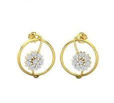 Natural Diamond Earrings 0.36 CT / 4.50 gm Gold