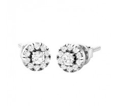 Natural Diamond Earrings 0.42 CT / 2.50 gm Gold
