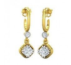 Natural Diamond Earrings 0.43 CT / 2.70 gm Gold