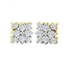 Natural Diamond Earrings 0.64 CT / 1.78 gm Gold