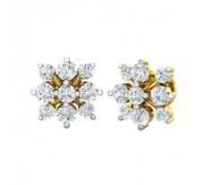 Natural Diamond Earrings 0.68 CT / 2.74 gm Gold