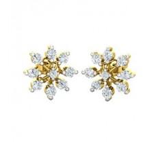 Natural Diamond Earrings 0.52 CT / 2.60 gm Gold