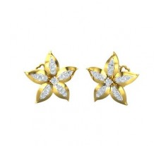 Natural Diamond Earrings 0.32 CT / 4.24 gm Gold