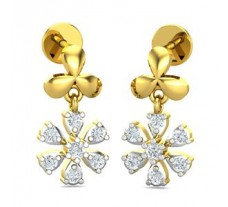 Natural Diamond Earrings 0.28 CT / 2.51 gm Gold