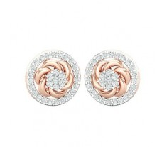 Natural Diamond Earrings 0.70 CT / 4.33 gm Gold