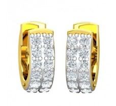 Natural Diamond Earrings 0.48 CT / 3.15 gm Gold