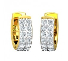Natural Diamond Earrings 0.36 CT / 3.00 gm Gold