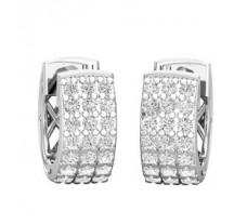 Natural Diamond Earrings 0.42 CT / 3.76 gm Gold