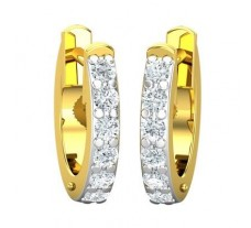 Natural Diamond Earrings 0.24 CT / 1.70 gm Gold