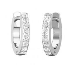 Natural Diamond Earrings 0.17 CT / 1.70 gm Gold