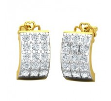 Natural Diamond Earrings 0.45 CT / 2.97 gm Gold