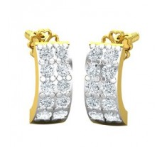 Natural Diamond Earrings 0.40 CT / 2.51 gm Gold