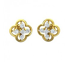 Natural Diamond Earrings 0.30 CT / 2.90 gm Gold