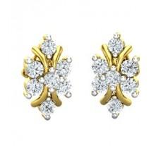 Natural Diamond Earrings 0.44 CT / 2.25 gm Gold