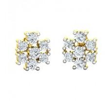 Natural Diamond Earrings 0.58 CT / 2.40 gm Gold