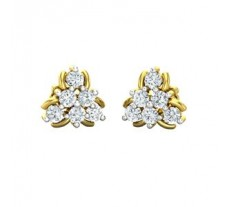 Natural Diamond Earrings 0.54 CT / 2.45 gm Gold