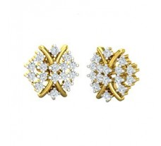 Natural Diamond Earrings 0.48 CT / 3.65 gm Gold