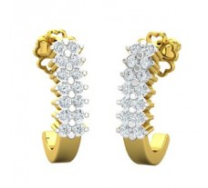 Natural Diamond Earrings 0.30 CT / 2.89 gm Gold