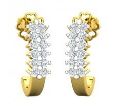 Natural Diamond Earrings 0.29 CT / 2.69 gm Gold