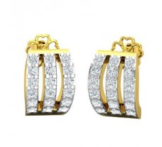Natural Diamond Earrings 0.39 CT / 3.67 gm Gold