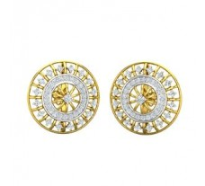 Natural Diamond Earrings 0.90 CT / 6.00 gm Gold