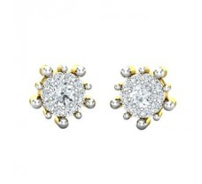 Natural Diamond Earrings 0.55 CT / 3.65 gm Gold
