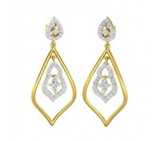 Natural Diamond Earrings 0.89 CT / 5.70 gm Gold