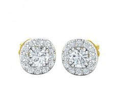Natural Diamond Earrings 0.62 CT / 2.10 gm Gold
