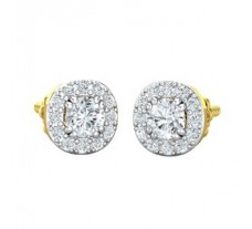Natural Diamond Earrings 0.78 CT / 2.35 gm Gold