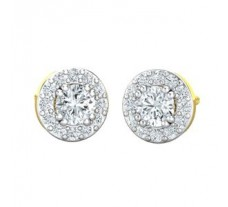 Natural Diamond Earrings 0.78 CT / 2.17 gm Gold