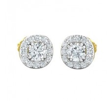 Natural Diamond Earrings 0.62 CT / 2.00 gm Gold