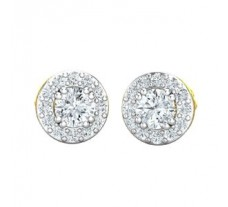 Natural Diamond Earrings 0.49 CT / 1.80 gm Gold