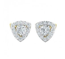 Natural Diamond Earrings 0.86 CT / 2.50 gm Gold